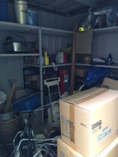 倉庫整理と荷物の運び出し
