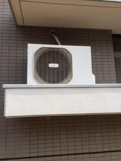 マンションのエアコン撤去