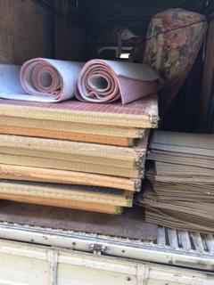 小学校の畳・カーペット回収です!