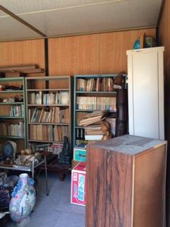 本棚と本を片付けました