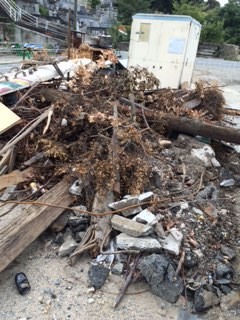 岡山市の解体作業後の片付けです